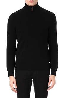 RALPH LAUREN Zip-neck cashmere jumper
