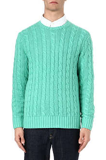 RALPH LAUREN Silk-blend cable knit jumper