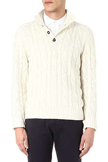 RALPH LAUREN Mock-neck silk-blend knitted jumper