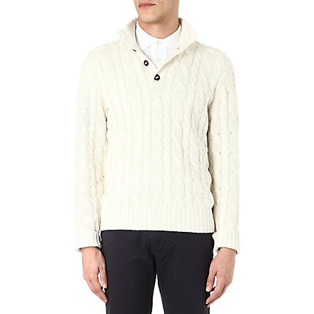 RALPH LAUREN Mock-neck silk-blend knitted jumper (Cream