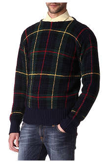 RALPH LAUREN Varsity checked jumper