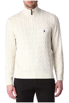 RALPH LAUREN Cable-knit Tussah silk jumper