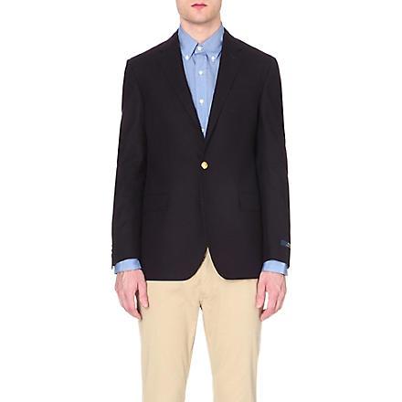 RALPH LAUREN Custom-fit wool blazer (Navy