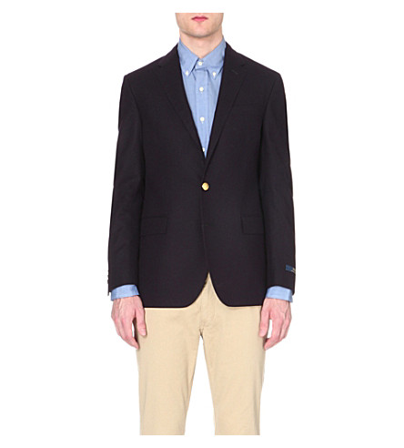 POLO RALPH LAUREN Custom-fit wool-twill blazer (Navy