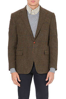 RALPH LAUREN Bedford checked wool blazer