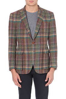 RALPH LAUREN Bedford checked wool-blend blazer