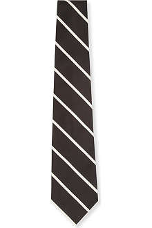 RALPH LAUREN Woven repeat striped tie