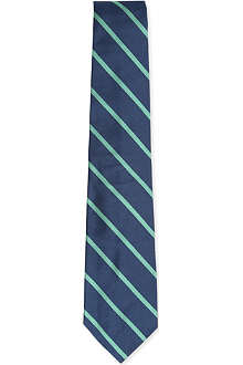 RALPH LAUREN Striped woven-silk tie