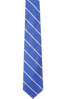 RALPH LAUREN Repp striped silk tie
