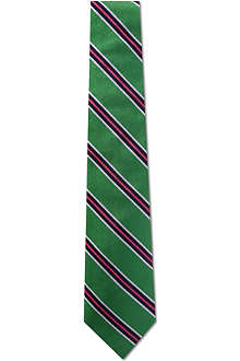 RALPH LAUREN Striped silk rep tie