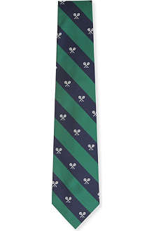 RALPH LAUREN Wimbledon wide-striped silk tie