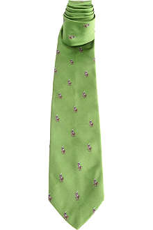 RALPH LAUREN Polo Player silk tie