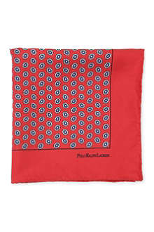 RALPH LAUREN Foulard-printed silk pocket square