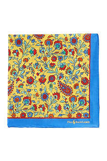 RALPH LAUREN Floral pocket square