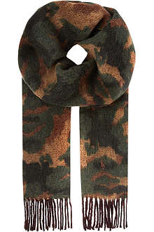 RALPH LAUREN Americana Dark Loden camo scarf