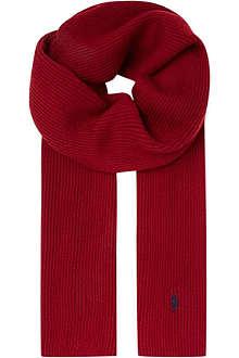 RALPH LAUREN Ribbed merino wool scarf