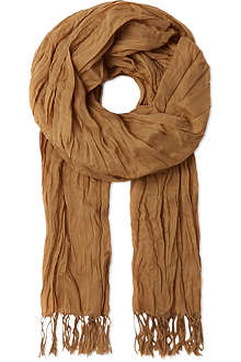 RALPH LAUREN Crinkled cotton scarf