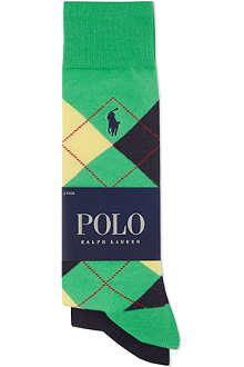 RALPH LAUREN Set of two cotton-blend socks