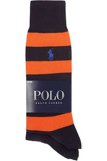 RALPH LAUREN Striped rugby socks