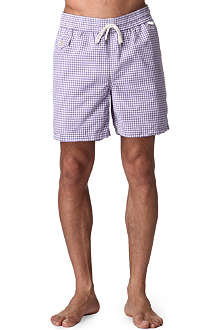 RALPH LAUREN Traveler gingham swim shorts