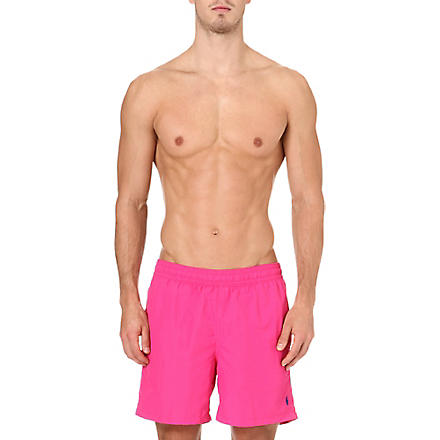 RALPH LAUREN Logo swim shorts (Active pink/rug