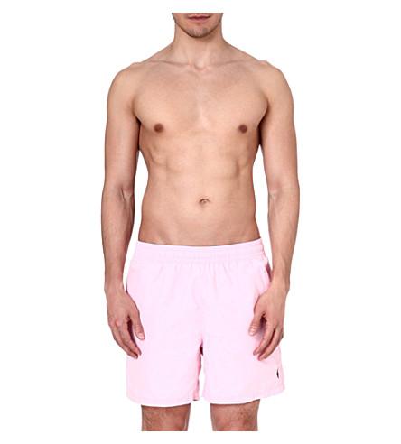 RALPH LAUREN Logo swim shorts (Carmel pink/war