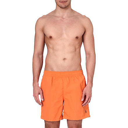 RALPH LAUREN Logo swim shorts (Classic orange/