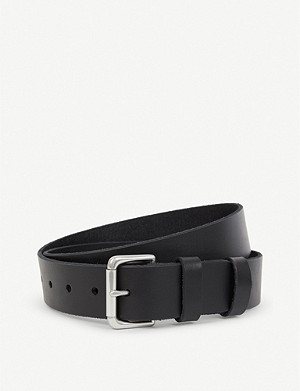 RALPH LAUREN Double-keeper leather belt