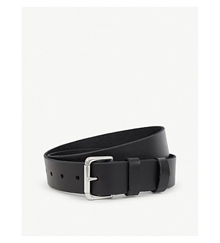 RALPH LAUREN Double-keeper leather belt (Black