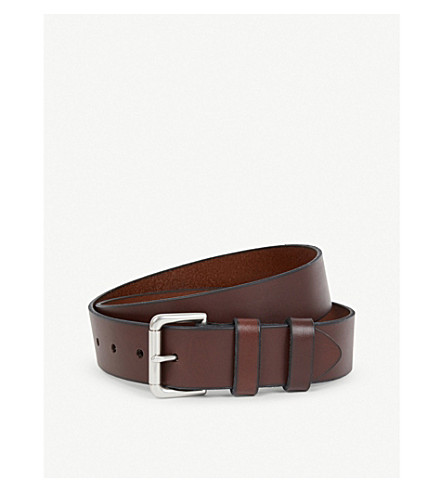 POLO RALPH LAUREN Double-keeper leather belt (Brown