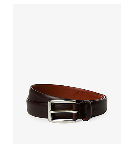 POLO RALPH LAUREN Embossed-logo belt (Brown