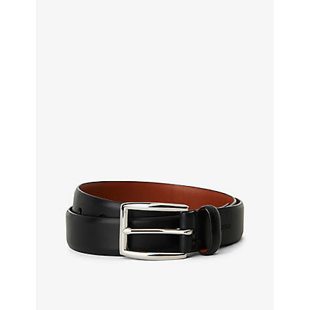 RALPH LAUREN Embossed-logo belt (Black