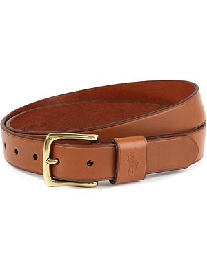 RALPH LAUREN Vachetta leather belt
