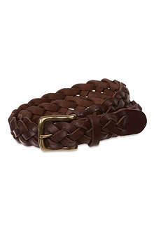 RALPH LAUREN Braided leather belt