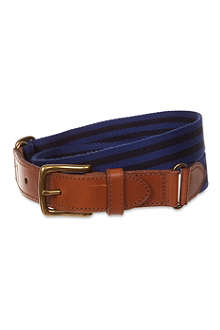 RALPH LAUREN Stripe icon aviator belt