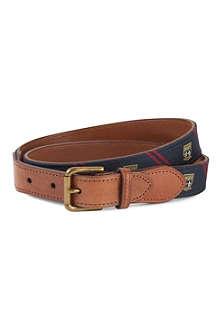 RALPH LAUREN Silk-tie leather belt