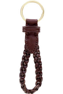 RALPH LAUREN Braided leather key ring