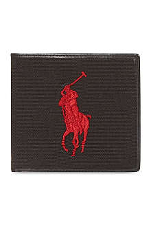 RALPH LAUREN Polo canvas billfold wallet