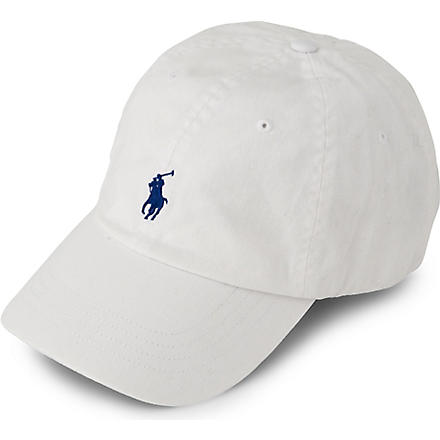RALPH LAUREN ACCESSORIES Signature pony baseball cap (A1000:+white