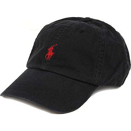 RALPH LAUREN ACCESSORIES Signature pony baseball cap (Black