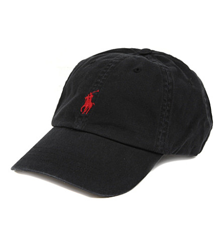 RALPH LAUREN Signature pony baseball cap (Black