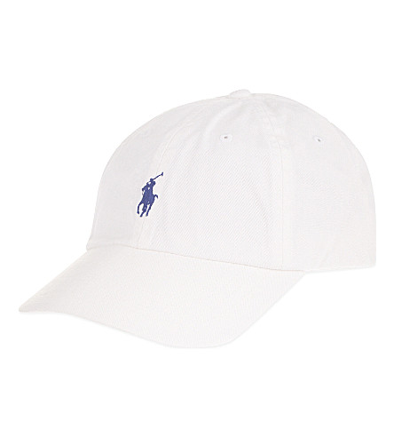 POLO RALPH LAUREN Classic Pony baseball cap (White/marlin blue