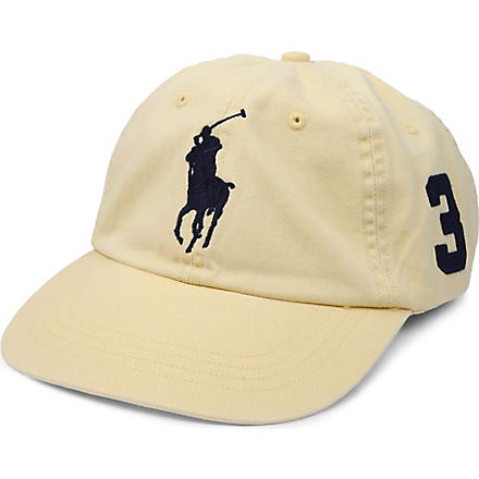 RALPH LAUREN Sun-washed Big Pony baseball cap (Alp+yel/c+nvypp