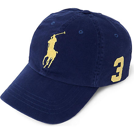 RALPH LAUREN Sun-washed Big Pony baseball cap (Obs blue/sp lmn