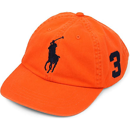 RALPH LAUREN Sun-washed Big Pony baseball cap (S+ornge/+c+n+pp