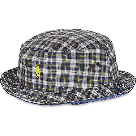 RALPH LAUREN Reversible beachside bucket hat (Npt+navy/englis