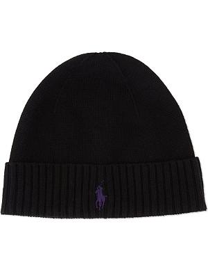 RALPH LAUREN Merino wool fold hat
