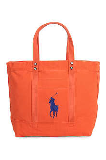 RALPH LAUREN Big Pony canvas tote