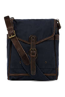 RALPH LAUREN North South canvas messenger bag