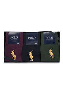 RALPH LAUREN Pack of three socks gift set